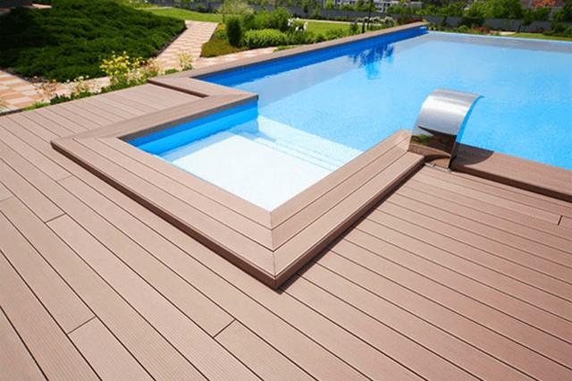 Sàn gỗ bể bơi - Thi công sàn gỗ chuyên dụng cho bể bơi